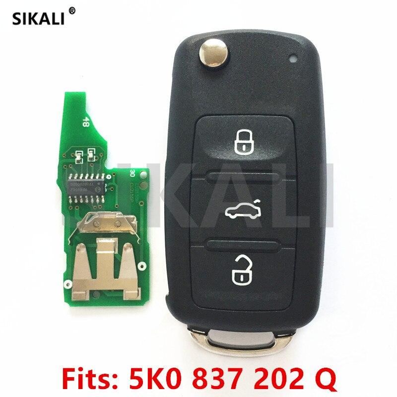 SIKALI Автомобильный Дистанционный ключ для 5K0837202Q для VW/VolksWagen Beetle/Caddy/Eos/Golf/Jetta/Polo/Scirocco/Tiguan/Touran/UP 2009-2014