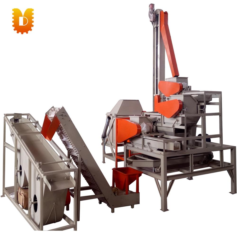 Línea de producción de separador de cáscara de avellanas/línea de productos de revestimiento y cribado de tuercas/línea de productos de avellanas