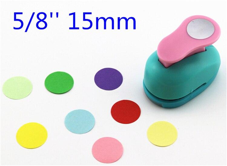 Frete grátis círculo de papel cortador de 15 milímetros 5/8 formas cortador de papel craft soco diy puncher scrapbooking socos recados S29877