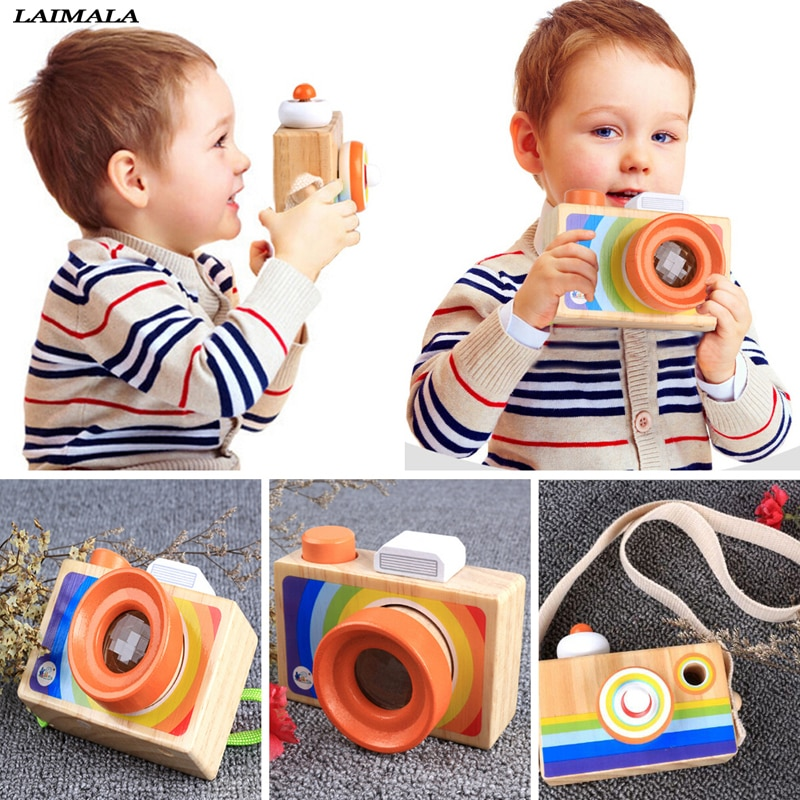 Jouet niños juguete de madera de la Cámara nórdica lindo colgante decoración de la habitación artículos de decoración regalos de cumpleaños del bebé juguetes de madera para los niños