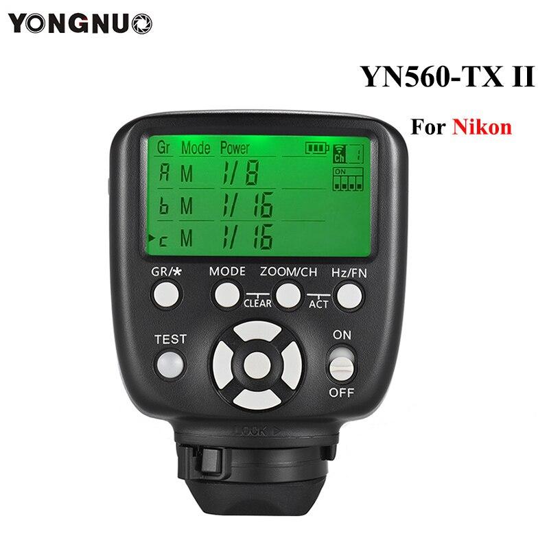 Yongnuo YN560-TX II Manual Flash Controller Transmitter Wireless Trigger For Nikon Camera YN560IV YN660 YN968N YN860Li Speedlite