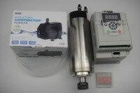 CNC כרסום ציר ER20 2.2KW מים קירור ציר + 1 מים משאבת + 1 צינור מים + 1 חתיכה 2.2KW מהפך + 1 cnc חריטת bits