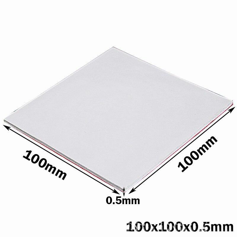 Gdstime 100x100x0.5 MM Branco SMD DIP IC Chip Condução Dissipador Compostos Térmicos Pad Pads