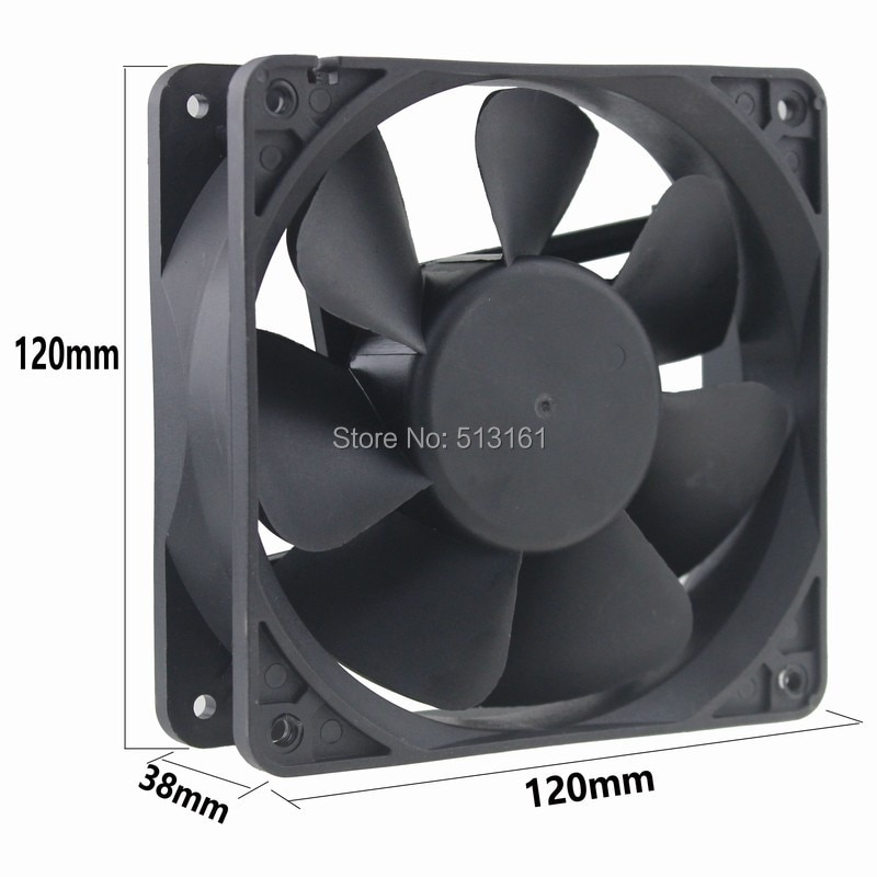 Gdstime DC 12V 0.5A 12038 120x120x38mm 12cm 120mm Ventilateur Cooler Cooling Fan PC Computer Case Fan