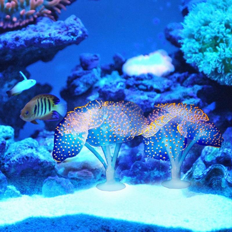 Fish Tank Glowing Artificial Jellyfishes Silicone Simulated Aquatic Plants Fluorescent Vivid Jellyfish Aquarium Decor
