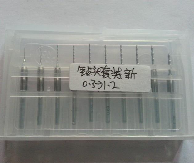 10x 0.3-1.2mm Carbide PCB for Dremel Jewelry CNC Drill Bits