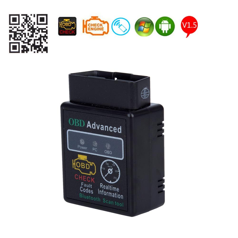 ELM327 HHOBD OBD2 V1.5 Car Diagnostic Scanner ELM 327 Bluetooth Interface Support All OBDII OBD 2 Protocols