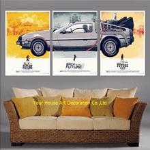 Modulaire Foto 3 Panel Terug Naar De Toekomst Print Canvas Schilderij Modern Wall Art Canvas Foto Kunst Schilderij Voor Living kamer