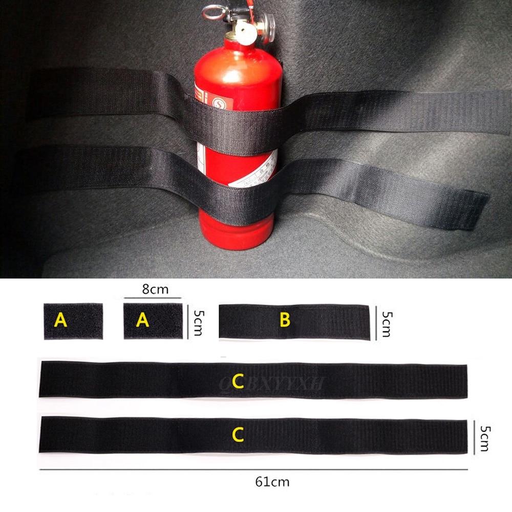 5 pçs/set Receber Conteúdo Loja Saco de Rede de Armazenamento Mala Do Carro Para KIA Toyota Nissan Honda BMW Audi Fixação de Extintor de Incêndio cinto