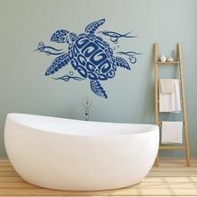Stickers muraux motif tortue et bulles   Stickers Vinyls pour pépinières, animaux, décor pour salle de bain, Design Animal tortue, stickers muraux YS14