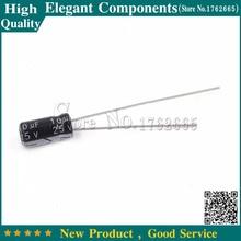 50 шт., алюминиевый электролитический конденсатор 25 В/10 мкФ, Размер 4*7 мм, 10 мкФ 25 в, электролитический конденсатор 25 в 10 мкФ