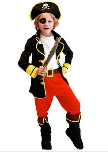 kids boys pirate costumes/cosplay costumes for boys/halloween cosplay costumes for kids/children cos