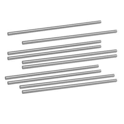 3mm de diámetro 100mm de longitud HSS redondo varilla del eje barra torno herramientas gris 10 Uds