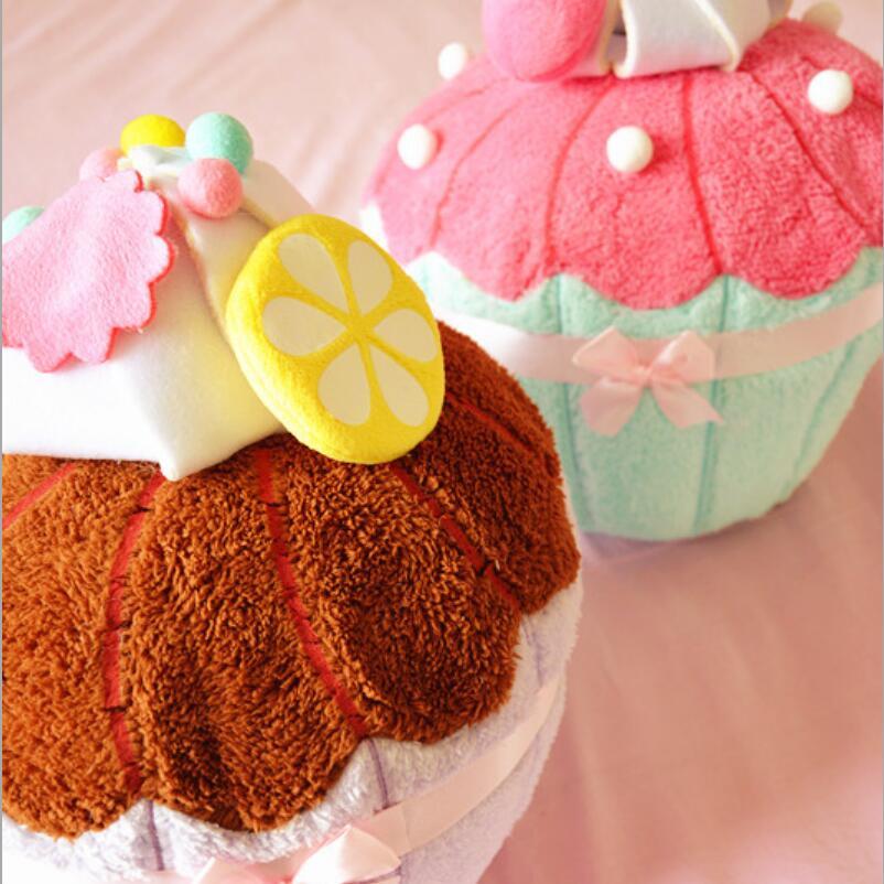 1Pc Cartoon 3D Ice cream dessert cake shape pillow Sofa Ice cream cone Cushion Throw Pillow with Inner Home Decor Sofa Toys Gift