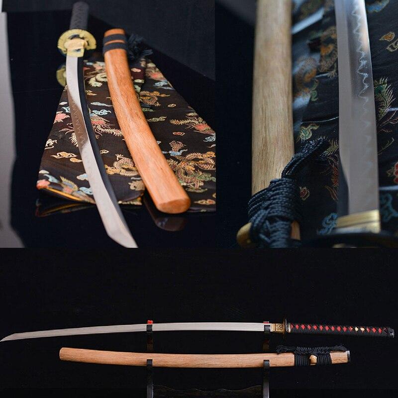 High-grade handmade sharp katanas sword Bushido katanas samurai japanese swords katana scabbard Damascus steel Burning blade