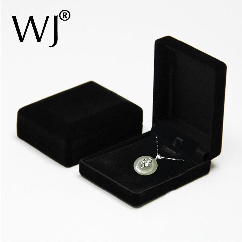 Superior Black Velvet Pearl wisiorek kolczyki stojaki pudełka z biżuterią naszyjnik Colars opakowanie pudełko i organizator 24 sztuk/partia
