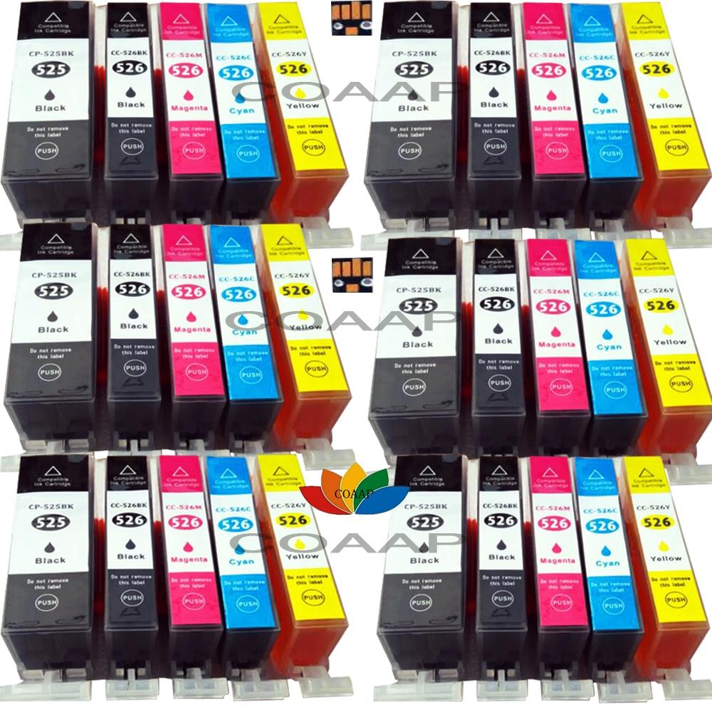 30x совместимый PGI-525 CLI-526 Мультипак картриджи для принтера canon, PIXMA, MG 5350/MG 6250/MG 8250/MG 6220/MG