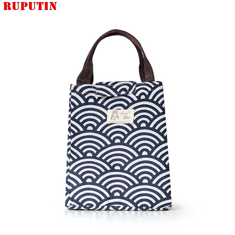 Dining Thermal Lunch Box Portable Insulation Package Waterproof Oxford Cloth Bag For Women Kids Men Tote Cooler Bags Pouch