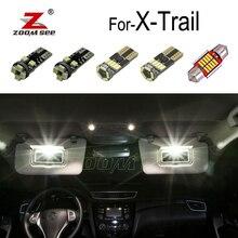 Perfeito Branco Sem Erro LED interior lâmpada Para 2001-2019 Nissan X Trail Para X-Trail T30 T31 t32 Reading dome luz Acessórios do kit