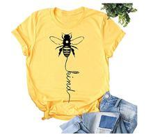 Bee Art Harajuku Grunge T-Shirt Stilvolle Kurzarm Werden Art Slogan Ästhetischen T Sommer Bienen Grafik Trendy Stilvolle Outfits