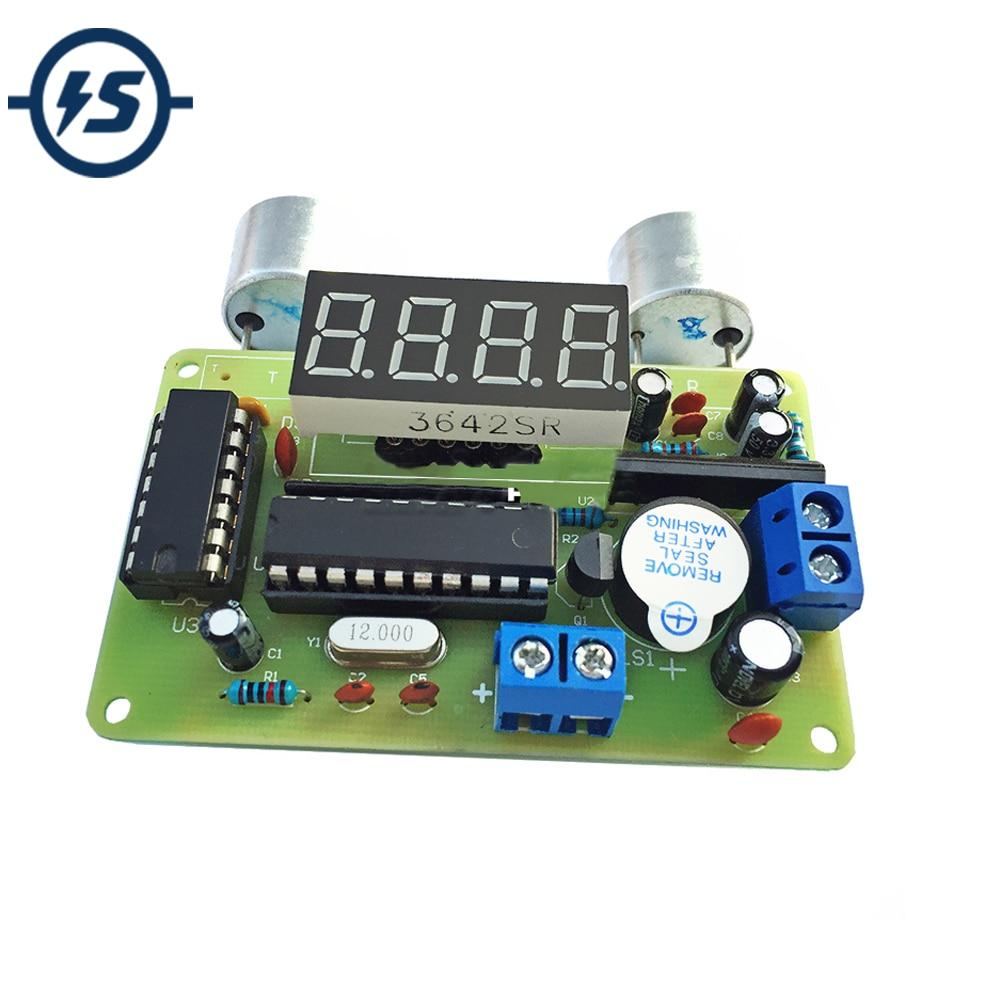 DIY Kit Ultrasonic Range Finder Distance Measuring Transducer Sensor Electronic Components Suite