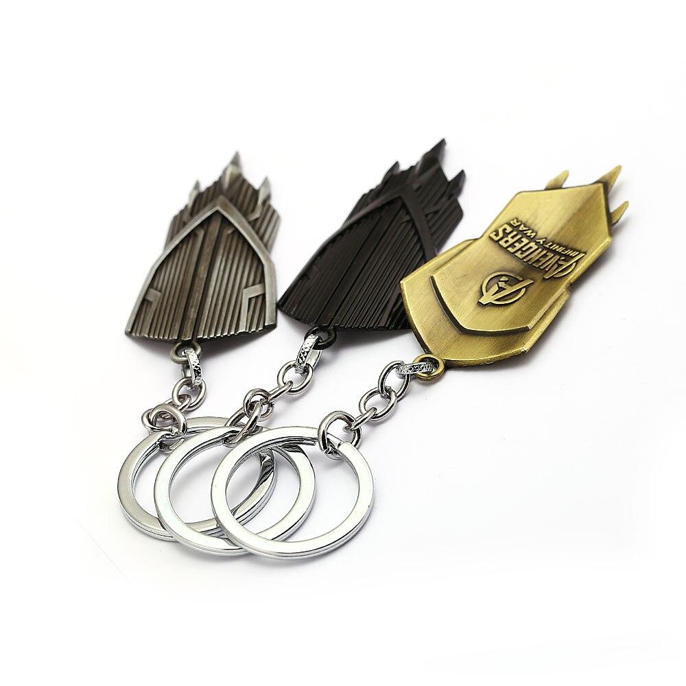 Movie Avengers Keyring Infinity War Captain America Cosplay Metal Shield Keychain New Weapons Vibranium Keychain