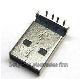 200PCS/LOT Black male USB plug  A male plug plate looper