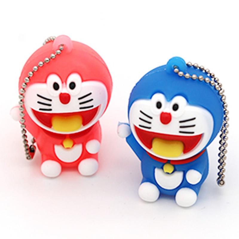 Encantador Pendrive Usb de dibujos animados Doraemon de 4 GB, 8 GB, 16 GB, 32 GB, 64G, Pendrive, Pendrive de disco, Pendrive Usb 2,0, Mini Thumbdrives de regalo