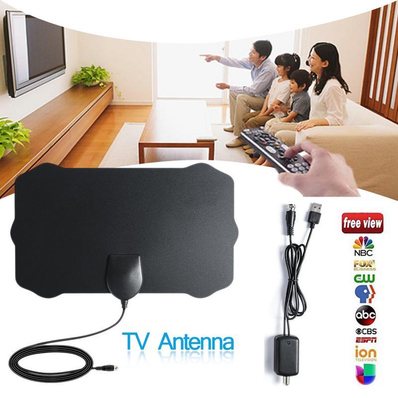120 миль антенна ТВ 1080P Цифровая HDTV внутренняя ТВ антенна с усилителем усилитель сигнала радиус Surf Fox HD мини антенны антенна