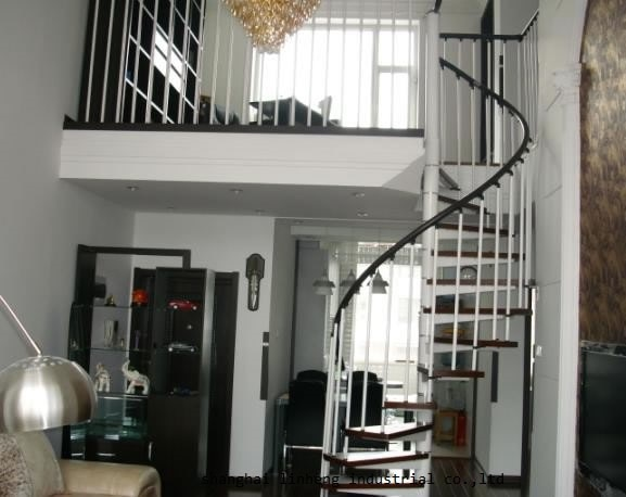High quality low cost indoor spiral staircase for home building project