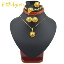 Ensembles de bijoux éthiopiens Ethlyn mignons bébé filles ensembles de couleur or pour ensembles de bijoux africains/éthiopiens/érythréens/Habesha S32