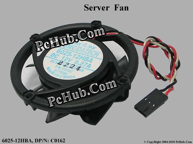 Ventilador de refrigeración para portátil de CPU para servidor JMC/DaTech 6025-12HBA-ventilador redondo DC 12V 0.27A, 65X65X23mm 6025-12HBA, DR6025-12HBA C0162