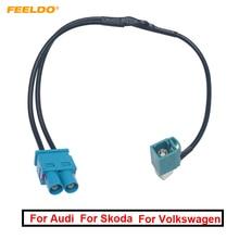 Terminaux dantenne Radio avec amplificateur Volkswagen/Skoda   1 voie de voiture, prise/femelle à 2 voies mâle/Jack, pour bloc de tête Volkswagen/Skoda
