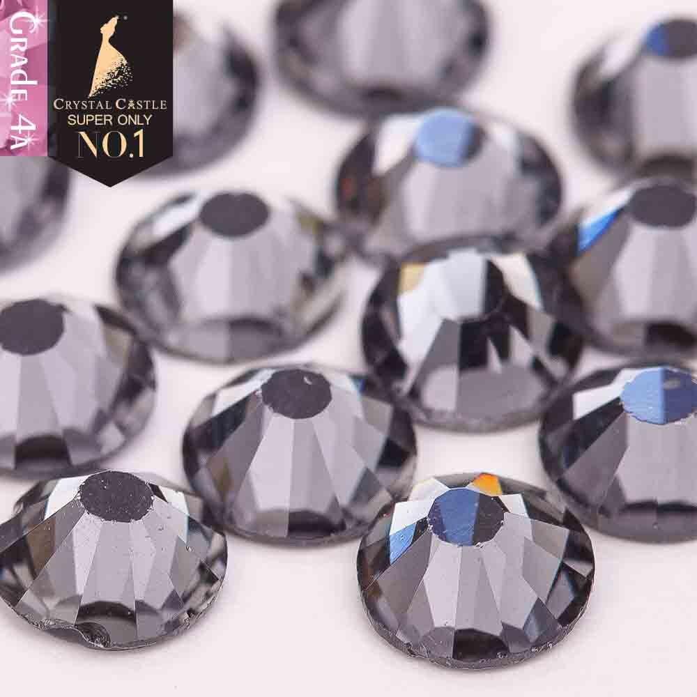 Хрустальный замок 4A с плоской задней поверхностью со стразами черный бриллиант без горячей фиксации кристалл без клея без горячей фиксации Стразы для дизайна ногтей сделай сам