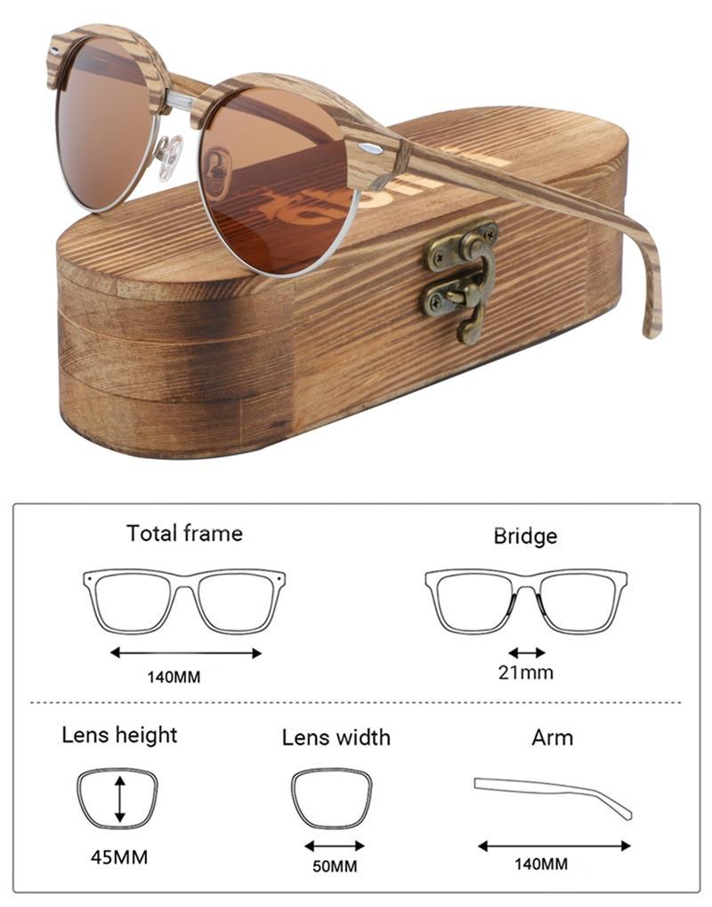 Ablibi 100% gafas de sol de madera Natural para mujer, gafas de sol polarizadas para conducir, gafas de sol de pesca protección UV hechas a mano, tonos de madera en caja