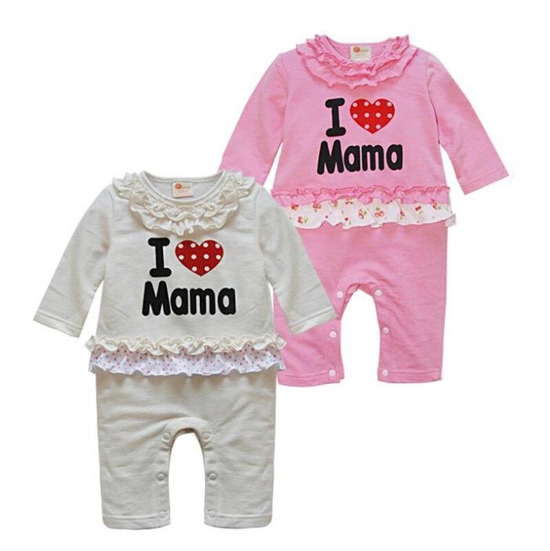 2019 bebé mono de niño niña otoño mono suave costo cómodo niños abrigo lindo mamá moda Bebé Ropa