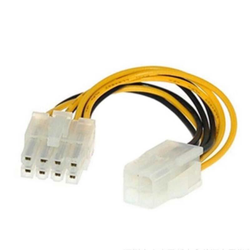 10 шт. источник питания ЦП кабельный разъем 4pin питания к 8pin Удлинительный кабель 4P к 8p Удлинительный кабель
