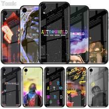 Travis scott astroworld temperli cam durumlarda Apple iPhone XR 7 8 6 6S artı 11 Pro X XS MAX SE 2020 yumuşak kenar telefon kapağı