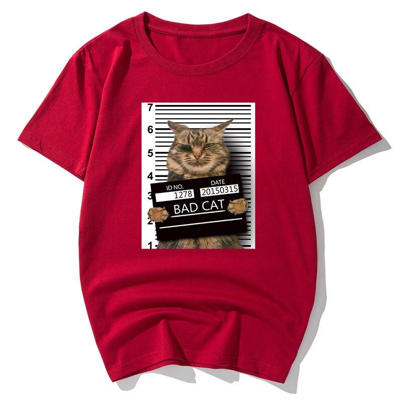 women funny cat t-shirts short sleeve tshirt lovely animal Creative tees summer plus size 6XL 7XL 8XL tshirt white casual cotton