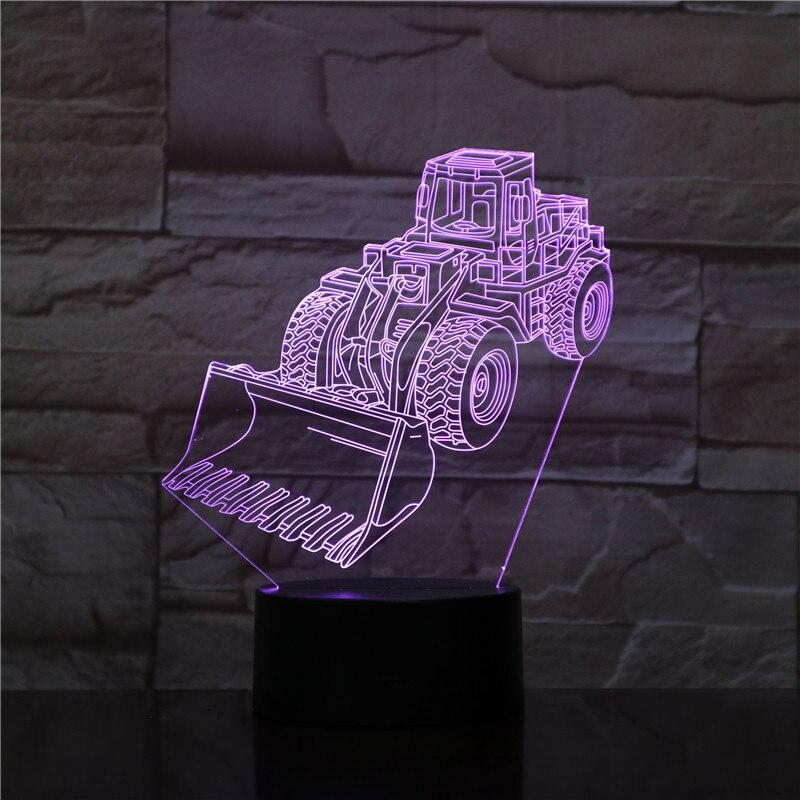 Luz Led de noche, montacargas decorativo, ilusión 3d, 7 colores cambiantes, niños, bebés, luz nocturna, regalos, lámpara de mesa, decoración de dormitorio