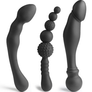 3 Types Unisex Anal Plug Male Prostate Massager Woman's G-Spot Stimulator Anal Beads Gay Sex Toys Adult Products Sex Shop