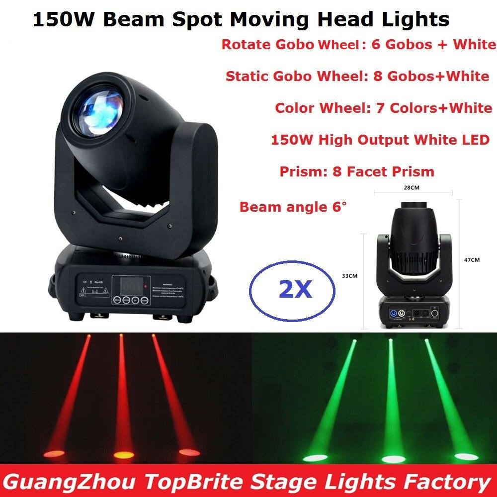 2 шт./лот, светодиодные прожекторы 150 Вт, белые светодиодные прожекторы с движущейся головкой, супер яркие DMX512 Профессиональные светодиодные...