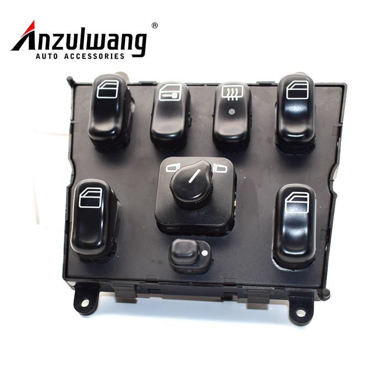 ANZULWANG 1638206610 interruptor Elétrico Da Janela Interruptor Principal para Mercedes-Benz W163 ML320 ML430 Um 1638206610 03751566