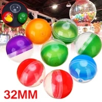 10pcsset 32mm diameter vending machine empty round toy capsules mix color 1 2inch funny kids toy for vending machine