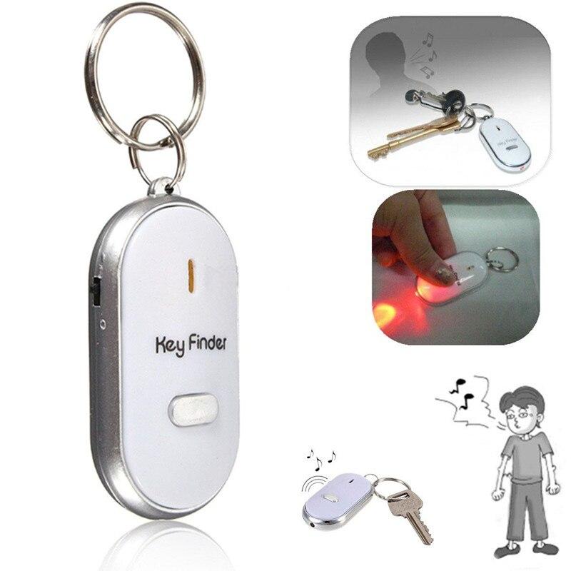2018 verkauf Top Mode Kette Clef Led Anti-verloren Finder Finden Locator Keychain Pfeife Beep Sound Control Torch Key ring
