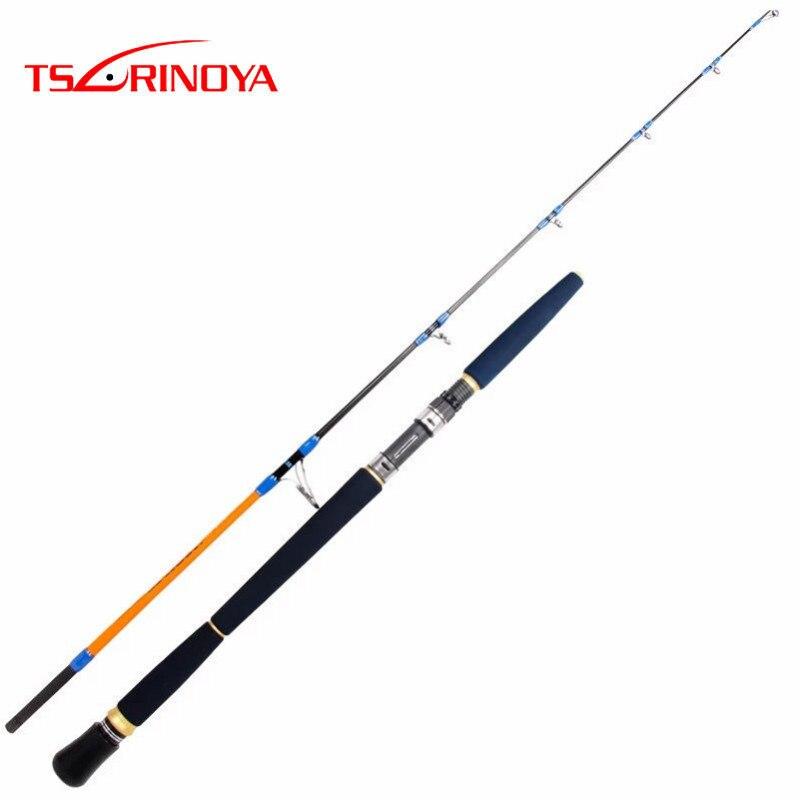 Tsurinoya 1,65 m Full Fuji partes pesca Jigging Rod 98% carbono señuelo peso 100-300g Spinning bote caña de pescar caña EVA mango