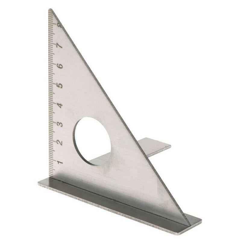 Regla para carpintería de acero inoxidable, mitón de diseño cuadrado, viga Triangular de 45 grados, calibrador métrico de 90 grados, herramienta de medición