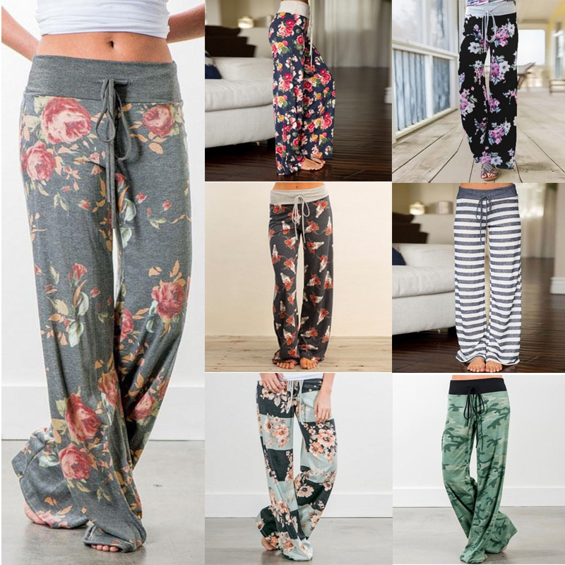 Large Plus Size Palazzo Joggers Women's Pants Female Sports Pants For Women Trousers Wide Leg Pant H