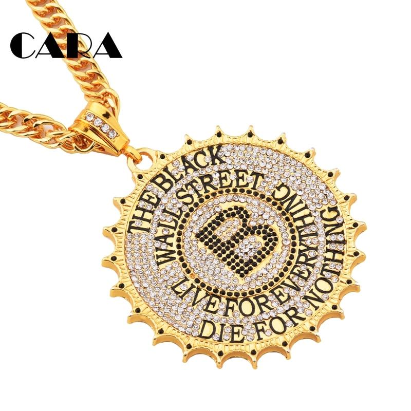 Ожерелье из нержавеющей стали 316L, ожерелье с побрякушкой из ледяного дерева, мужское ожерелье золотого цвета в стиле хип-хоп, мужское ювелир...