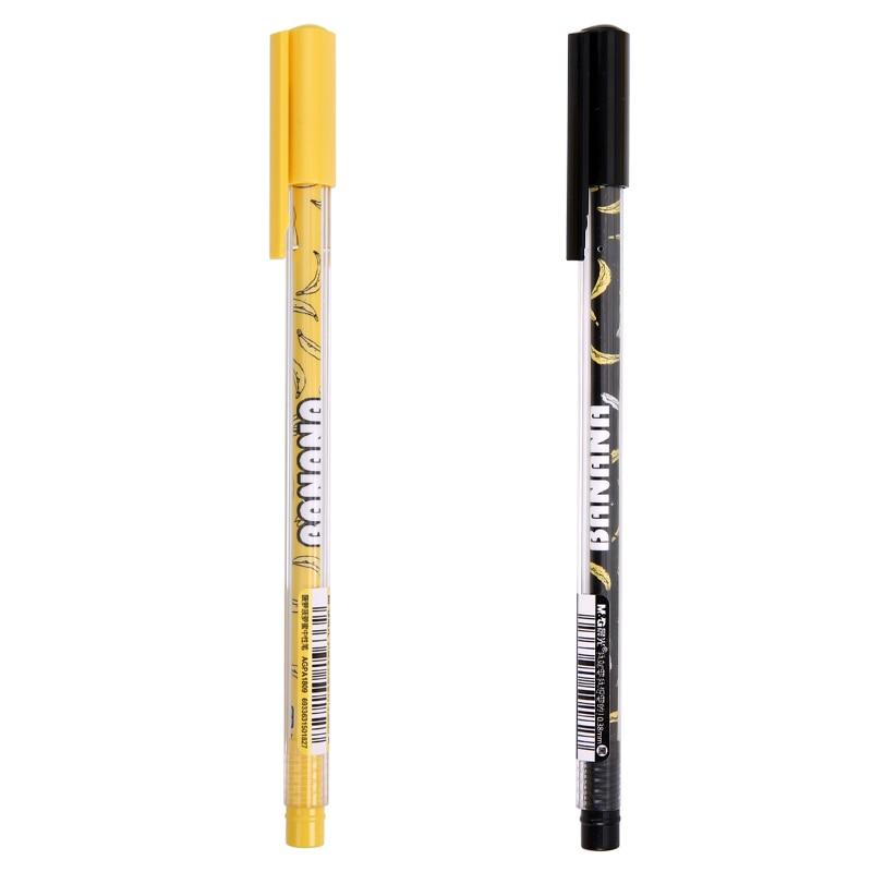 M&G  AGPA1809 pineapple jackfruit students full needle 0.38mm black neutral pen cartoon pen
